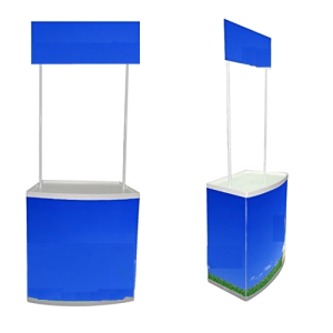 Pop-up Promotional Display Counter + Carriage Bag